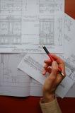 Nuovo disegno della cucina Fotografie Stock