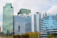 Nuovo distretto aziendale nella capitale del Kazakistan, Astana Fotografia Stock Libera da Diritti