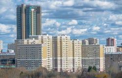 Nuovo distretto residental a Mosca Fotografie Stock Libere da Diritti