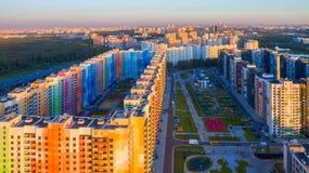 Nuovo distretto variopinto dell'appartamento Immagine Stock Libera da Diritti
