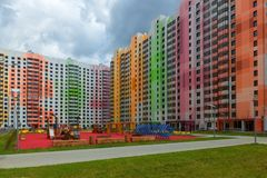 Nuovo distretto variopinto dell'appartamento Immagine Stock