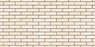 Nuovo e muro di mattoni pulito beige leggero senza cuciture Immagini Stock Libere da Diritti