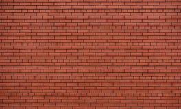 Nuovo e muro di mattoni rosso pulito fotografie stock libere da diritti
