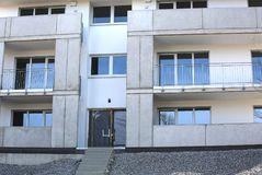 Nuovo edificio residenziale in costruzione Fotografia Stock Libera da Diritti