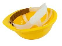 Nuovo elmetto protettivo giallo immagine stock libera da diritti