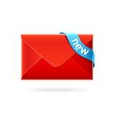 Nuovo email. Icona di vettore. Immagine Stock