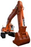 Nuovo escavatore arancione Fotografia Stock Libera da Diritti