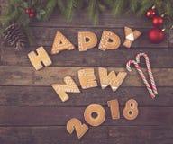 Nuovo 2018 felice Fotografia Stock
