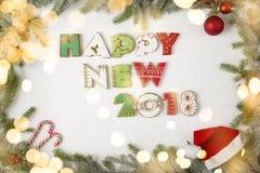 Nuovo 2018 felice Immagini Stock