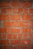 Nuovo fondo arancio del primo piano del muro di mattoni Immagine Stock Libera da Diritti