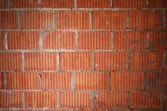 Nuovo fondo arancio del primo piano del muro di mattoni Fotografia Stock Libera da Diritti