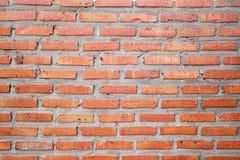 Nuovo fondo del muro di mattoni di lerciume, muro di mattoni arancio Immagini Stock Libere da Diritti
