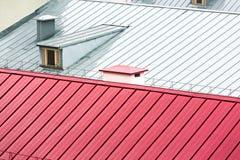 Nuovo fondo del tetto del metallo immagine stock