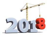 Nuovo fondo della costruzione da 2018 anni Immagine Stock Libera da Diritti
