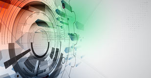 Nuovo fondo futuro dell'estratto di concetto di tecnologia illustrazione di stock