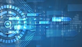 Nuovo fondo futuro dell'estratto di concetto di tecnologia royalty illustrazione gratis