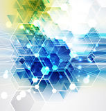 Nuovo fondo futuro dell'estratto di concetto di tecnologia illustrazione vettoriale