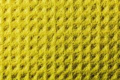 Nuovo fondo giallo dello strofinaccio della cucina fotografie stock