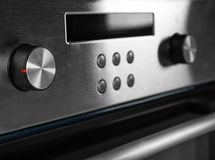 Nuovo forno elettrico con i bottoni di controllo Immagini Stock Libere da Diritti