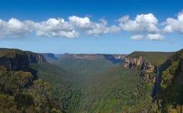 Nuovo Galles del Sud blu NSW dell'Australia delle montagne Fotografia Stock