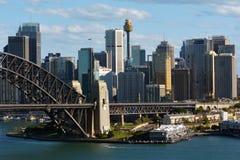 Nuovo Galles del Sud dell'orizzonte di Sydney Central Business District australe Fotografie Stock Libere da Diritti