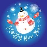 Nuovo grande pupazzo di neve illustrazione di stock