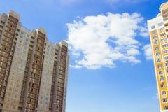 Nuovo grattacielo residenziale incompiuto del raggiro di rinforzo Fotografia Stock