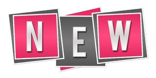 Nuovo Grey Blocks rosa royalty illustrazione gratis