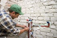 Nuovo impianto idraulico Immagini Stock