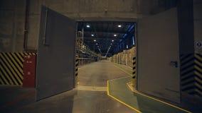 Nuovo impianto industriale moderno stock footage