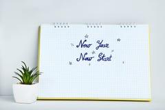 Nuovo inizio del nuovo anno fotografia stock