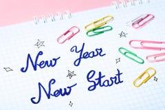 Nuovo inizio del nuovo anno immagine stock libera da diritti
