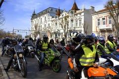Nuovo inizio Varna Bulgaria di stagione del motociclo Immagine Stock Libera da Diritti