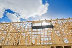 Nuovo inquadramento domestico della costruzione Fotografie Stock Libere da Diritti