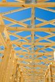 Nuovo inquadramento domestico della costruzione Fotografie Stock