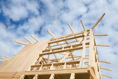 Nuovo inquadramento domestico della costruzione. Immagine Stock Libera da Diritti