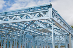 Nuovo inquadramento domestico della costruzione Fotografia Stock Libera da Diritti