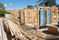 Nuovo inquadramento domestico della costruzione Immagini Stock