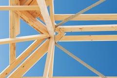 Nuovo inquadramento domestico della costruzione. Fotografia Stock Libera da Diritti