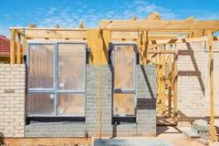 Nuovo inquadramento domestico della costruzione Fotografia Stock