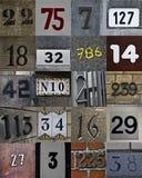 Nuovo insieme dei numeri di casa immagine stock libera da diritti