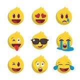 Nuovo insieme dell'icona di emoji illustrazione vettoriale
