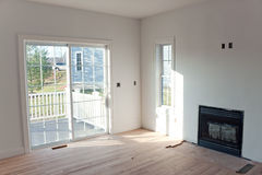 Nuovo interiore domestico non finito Fotografia Stock Libera da Diritti