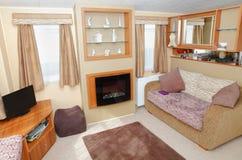 Nuovo interno domestico statico del caravan fotografia stock