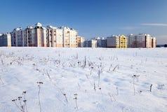 Nuovo inverno della costruzione Immagini Stock Libere da Diritti