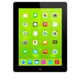 Nuovo IOS 7 1 2 homescreen su un'esposizione nera del iPad Fotografia Stock