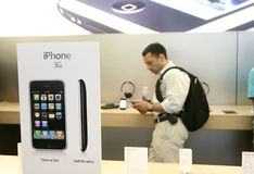 Nuovo iphone 3G sulla vendita Fotografie Stock