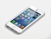 Nuovo iphone 5 della mela Fotografia Stock Libera da Diritti