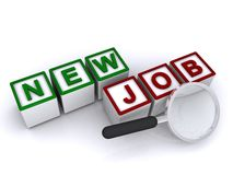 Nuovo job royalty illustrazione gratis