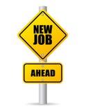 Nuovo Job Road Sign Fotografia Stock Libera da Diritti